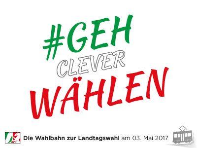 Die Wahlbahn zur Landtagswahl am 03. Mai 2017